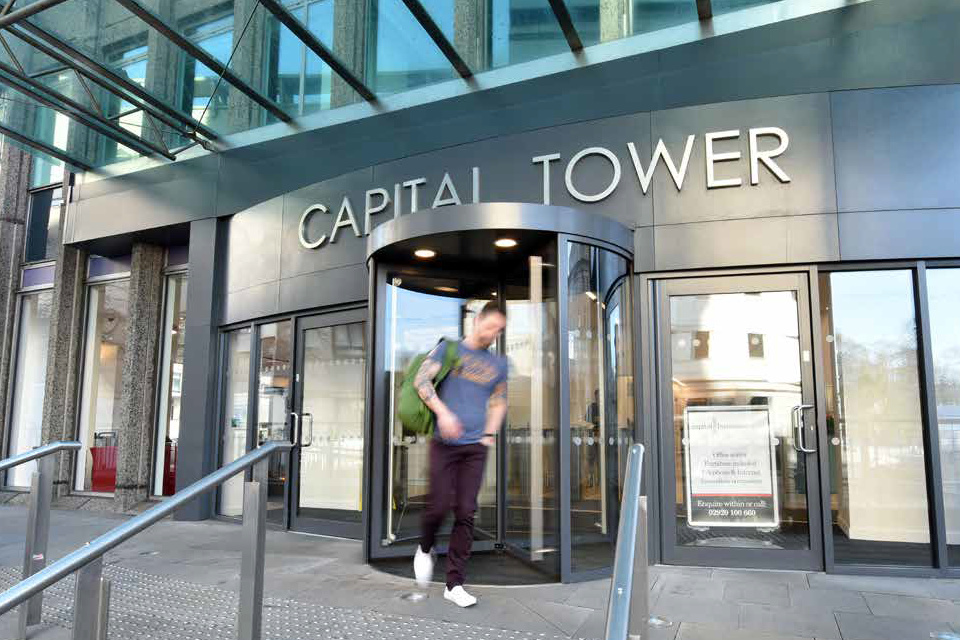 Capital Tower Cardiff - Entrance