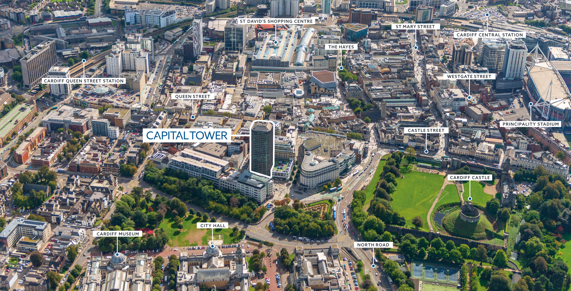 Capital Tower Cardiff Aerial Photo